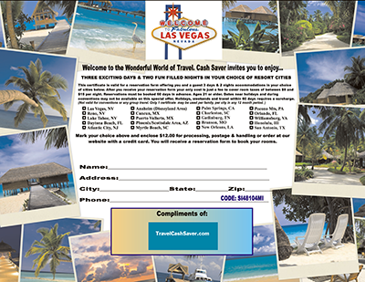 Giveaway Digital Vacation Certificates